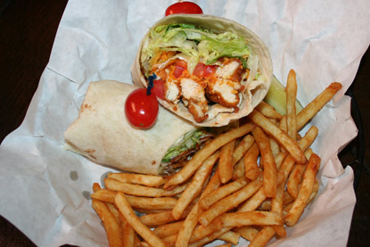 Buffalo Chicken Wrap by Troll Pub